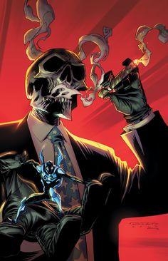 Blue Beetle and Black Mask Mr Bones, Raiders Stuff, Oakland Raiders Football, Raiders Baby, Blue Beetle, Skull Illustration, New 52, Raider Nation, Scribble