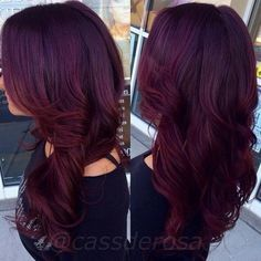 plum dark burgundy hair - Google Search