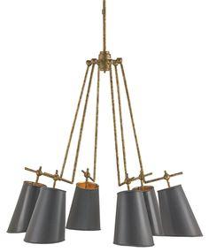 Jean-Louis Chandelier design by Currey & Company