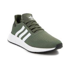 Womens adidas Swift Run Athletic Shoe - Olive White Black - 436657  Sneakers 6ebd0cb97af