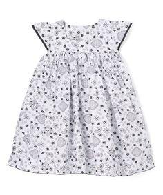 Look what I found on #zulily! White Arabesque Angel-Sleeve Dress - Infant, Toddler & Girls #zulilyfinds