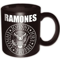 Ramones Presidential Seal Black Mug Official Licensed Music. This item is perfect for any Ramones fans wanting to own official merchandise from this monster of
