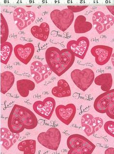 This NEW 15 bolt Valentine fabric collection just arrived at the shop. It is oh so pretty, designed by Sue Zipkin for Clothworks it is aptly titled  'Hug Me' :)
