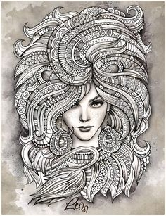 "Zodiac illustration ""LEO"" by balabolka , via Behance"