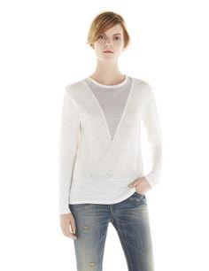 IRO. JEANS STANKA T-SHIRT - Graphic T-shirt - Ecru / Pearl Grey -T-shirts IRO - Women - IRO