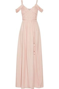Pastel-pink silk Concealed hook and zip fastening at side 100% silk  Dry clean Designer color: Petal Pink Imported
