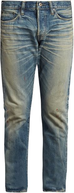 SIMON MILLER M001 Ishida distressed slim-leg jeans Slim Man, Slim Legs, Distressed Jeans, Just For You, Stylish, Men, Fashion, Thin Legs, Ripped Denim Jeans