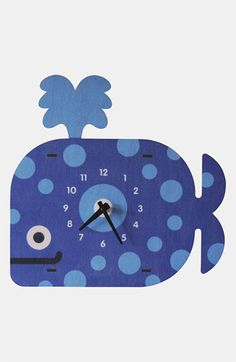 Modern Moose 'Whale' Clock available at #Nordstrom