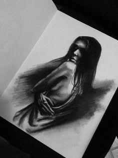 Carboncino- Woman by IAnastasiaI.deviantart.com on @DeviantArt