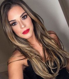 170 ombre hair color ideas for blonde brown black balayage hair – page 1 Brown Hair With Blonde Highlights, Hair Highlights, Color Highlights, Highlights For Brunettes, Chunky Highlights, Dark Blonde, Brunette Color, Brunette Hair, Summer Brunette