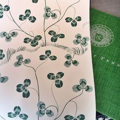 Tänk vad härligt att ett tapetmönster av Josef Frank legat i Svenskt Tenns skattgömmor sedan 1940-talet och aldrig producerats. Nu är det tryckt och känns hur fräscht och modernt som helst! Ligger uppe på tapetorama.se och och rullarna är färdiga att skickas. Går även fint att beställa prov. #tapet #tapeter #tapetorama #joseffrank #svenskttenn #design #wallpaper #wallpaperwednesday #papierpeint #tapetti #interiör #interiör #inspiration #klöverblad #clover #fourleafclover