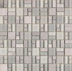"#Interceramic - Pietra Cristal Blanco 12"" x 12"" Mosaic"