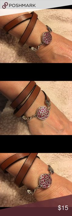 Leather Ginger snap bracelet on the arm, A leather ginger snap bracelet with a snap I chose but I would suggest sticking up at my low prices so you can change it for any outfit! mycelle21 Jewelry Bracelets