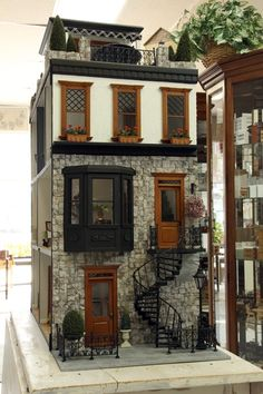 41 Dollhouses That Will Make Wish You Were A Tiny Doll - house architecture Miniature Furniture, Doll Furniture, Furniture Ideas, Miniature Houses, Miniature Dolls, Tiny World, Dollhouse Accessories, Fairy Houses, Doll Houses