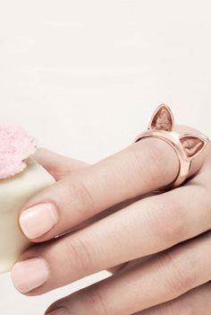 Rose Gold Cat Ears Ring <3 SO cUte!