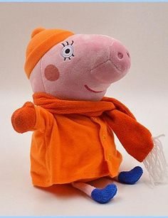 ANDP Peppa Pig Baby Pepe George Family Winter Stuffed Toy Plush Doll (4pcs/lot)