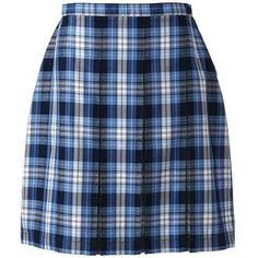 School Uniform Plaid Box Pleat Skirt Top of the Knee from Lands' End