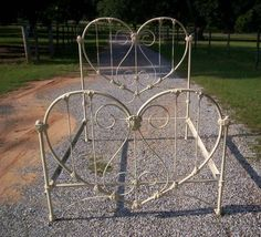 """What better way to say Happy Valentines Day than with an antique iron """"heart"""