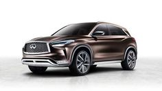 Making its global premiere at the 2017 North American International Auto Show in Detroit, the Infiniti Concept is said to showcase the brand's vision for a next-generation mid-size premium SUV. Detroit Cars, Detroit Motors, Detroit Auto Show, Nissan, Car Infiniti, Cadillac, Mercedes Benz, Toyota, Honda