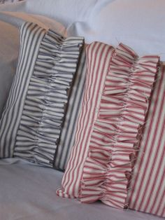 ticking pillow covers