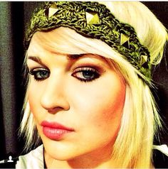 Olive Green Headband with studs on Etsy, $10.00