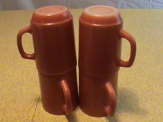 Vintage Anchor Hocking Coffee Mugs by RetroRevolutions on Etsy, $6.95