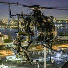 """Night Stalker at the Port of Long Beach during """"training exercise"""" last year Military Helicopter, Military Guns, Military Art, Military Aircraft, Helicopter Plane, Military Diorama, Military History, Military Special Forces, Special Ops"""