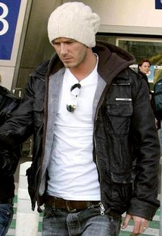 Brad Leather Jacket as seen on David Beckham - designed by Superdry