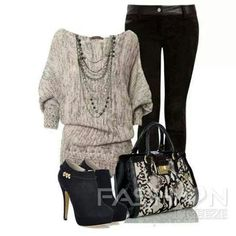 I'm in love with this sweater and booties!