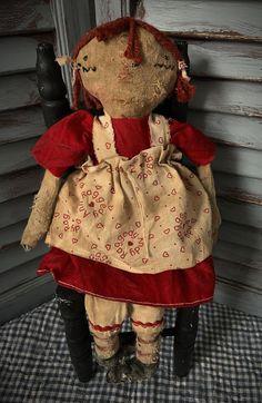 American Doll Pattern Primitive Rag Doll Doll MUSTARD SEED ORIGINALS Primitive Doll Pattern Pattern Americana Mustard Seed Primitives