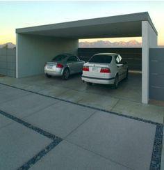 Nice Look of Covered Modern Patio Carport Exterior Carport Patio, Carport Garage, Deck With Pergola, Garage Plans, Garage Ideas, Carport Ideas, Metal Pergola, Pergola Ideas, Garage Doors