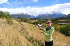 We love Backpacker's Pantry! Elaine, enjoying our Cold Black Bean Salad in Torres Del Paine, Chile.