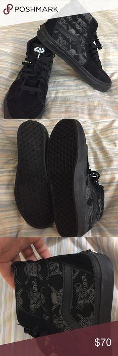 Star Wars Vans Black High Top Star Wars Vans. Worn once. In perfect condition. Vans Shoes Sneakers