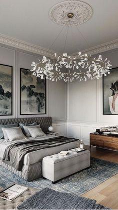 Home Room Design, Master Bedroom Design, Contemporary Interior Design, Interior Design Tips, Beige Sofa Living Room, Luxury Home Furniture, Luxurious Bedrooms, Luxury Living, Room Decor Bedroom