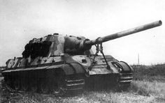 """Jagdtiger, This Jagdtiger was captured by the British in 1945. After the war was over the British military filmed this vehicle in action to study both the strong and weak points of its design.  Jagdtiger (""""Hunting Tiger"""") is the common name of a German heavy tank destroyer of World War II. The official German designation was Panzerjäger Tiger Ausf. B as it was based on a lengthened Tiger II chassis."""