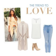 From celebrities to street-style stars: the new season style that everyone is falling head over heels for is the waterfall trench. Style this statement piece with neutral colours and structured accessories.   ZOE WATERFALL TRENCH COAT R1599 ALICE KEYHOLE TANK TOP R299 POPPY MID RISE ANKLE GRAZER JEANS R799 MOLLY TASSEL ANKLE BOOTS R799 Image via Pinterest.