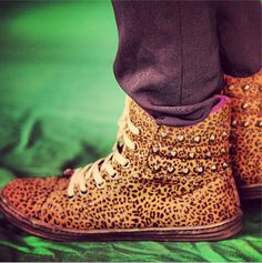 MTV style pic of the day with VJ Bani j ! How many people in favor of these adorable leopard studded print pumps? We definitely are!for uber cool looking style tips log onto www.mtv.in.com/style