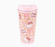 I love this print! Hello Kitty 15oz Stainless Steel Mug: Leopard Love Collection