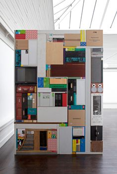 Tetris - by Michael Johansson, 2011. Objects from the storage room at Den Frie Udstillingsbygning. Dimensions: 2 x 2,8 x 1,5 m.