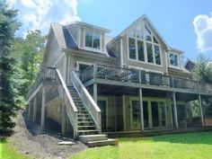 Almost Aspen: 7 BR / 5.5 BA lake front in Oakland, Sleeps 20Vacation Rental in Thayerville from @homeaway! #vacation #rental #travel #homeaway