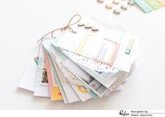Minibook and Traveler's Notebook spread – Pinkfresh Studio