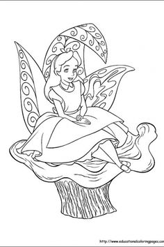 alice in wonderland educational fun kids coloring pages and preschool skills worksheets - Color Sheet For Kids