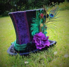 Handgemaakte Mad Hatter hoge hoed. van FaerieInTheFoxglove op Etsy
