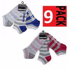 3 PACK BONDS QUARTER CREW Womens Pairs Sports Socks Black White Size Sizes 3-8