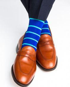 These luxury men's dress socks are made with an exceptionally soft mercerized cotton. Expertly knitted at a third-generation North Carolina mill, these fashionable socks are a timeless addition to eve