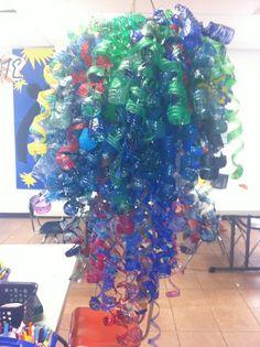 plastic bottle chandelier instructions