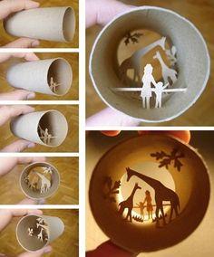 toilet paper diorama. Wish I had an artsy talent.