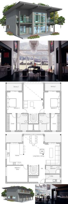 Small House Plan three bedrooms.