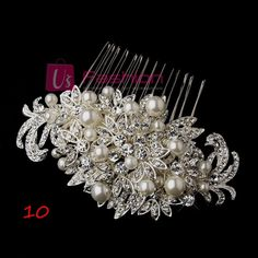 STUNNING BRIDAL WEDDING CRYSTAL RHINESTONES DIAMANTE HAIR COMB CLIP   eBay