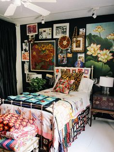 20 Maximalist Interior Design Ideas - How Maximalism Is Replacing Minimalism In . CLICK Image for full details 20 Maximalist Interior Design Ideas - How Maximalism Is Replacing Minimalism In Home Décor Source . Home Bedroom, Bedroom Decor, Quirky Bedroom, Eclectic Bedrooms, Bedroom Ideas, Home Interior Design, Interior Decorating, Maximalist Interior, Small Space Design